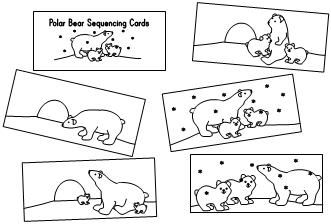 Sequencing cards with polar bears--great for little