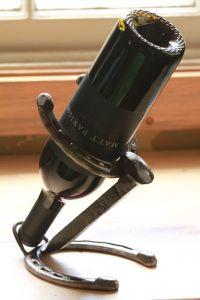 Horseshoe and Railroad Spike Wine Bottle Holder   Wine ...