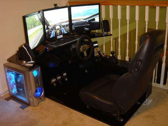 racing seat office chair diy folding high chairs posh car equipped computer gaming desk with sound system   future tech pinterest cars ...