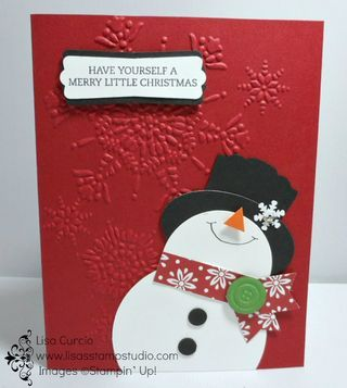 Create This Adorable Snowman From Punches Stampin Up