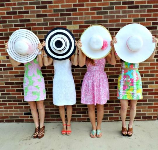 A floppy hat is a perfect addition to any preppy outfit!