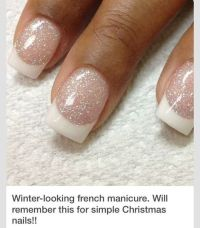 Winter French Tip Looking Nails | Nails | Pinterest ...