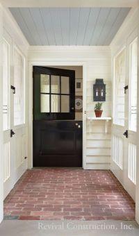 Blue ceiling brick floor. Farmhouse Touches | Porches ...