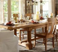 Charles Reclaimed Wood Extending Dining Table - Smoked ...
