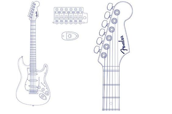 Graphics, Templates and Fender stratocaster on Pinterest
