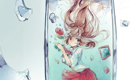 anime girl in glass of water AnimeManga Pinterest