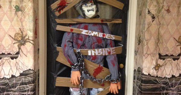 Classroom Halloween Door Decorating Contest Zombies Ideas For The Classroom Pinterest