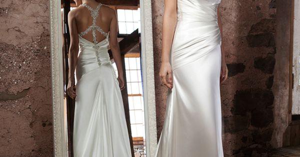 Sincerity Wedding Dress Style 3703 Cowl Draped Charmeuse