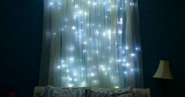 Lighted Headboard Canopy Dream Bedroom Pinterest