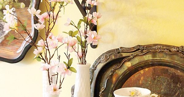 Vignettes, Vintage Yellow And Nest