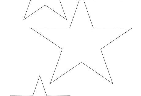 Star Templates In Different Sizes. Great For Art And Craft