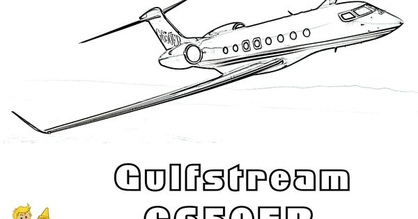GulfStream G650ER Airplane Coloring Sheet. You Can Print