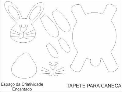 Espaço da Criatividade Encantado : TAPETE DE CANECAS