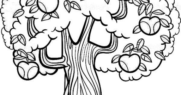 Tree With Leaves Coloring Page Sketch Coloring Page