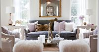 Furniture, Contemporary Living Room Leopard And Sheep ...