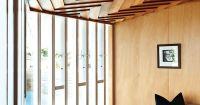 ceiling details, chevron, wood paneling, danish modern