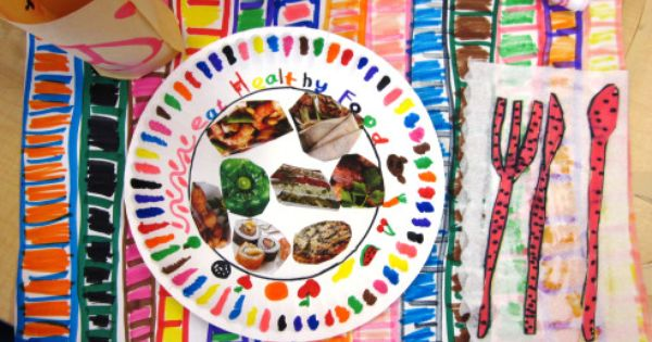 Healthy Eating Plate And Place Mat Art Project Food And