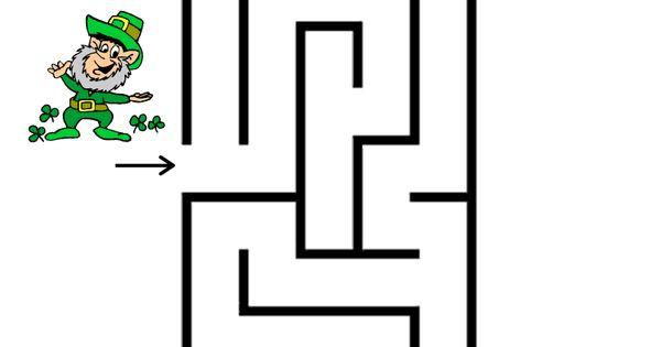 Leprechaun and Pot of Gold Easy Maze: problem solving
