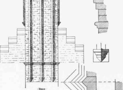 Fig. 67. Ornamental Brick Chimney stack. This section is