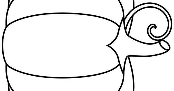 A simple pumpkin coloring page in jpg and transparent PNG