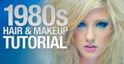 1980's hair & makeup tutorial