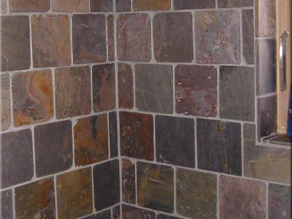 6x6 slate tile brick pattern with 1x1 accent  Home ideas  Pinterest  Brick patterns Slate