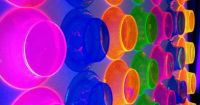 neon bowls as wall decoration | Neon | Pinterest | Wall ...