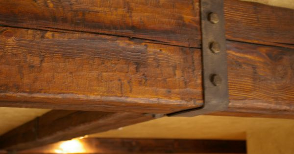 Distressed Rustic Wood Beam Rustic Beam Hardware  Beams  Trusses  Pinterest  Rustic wood