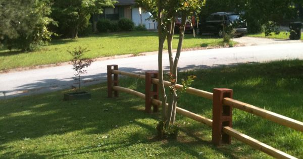 Our fence made with cinder blocks Love it Can add a