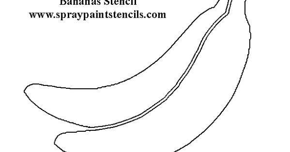 http://www.spraypaintstencils.com/foodstencils/bananas