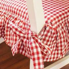 Rocking Chair Cushion Covers Outdoor Hanging Chairs Canada Pretty Red And White Gingham Check Kitchen Cushions. | :: Accessories ...