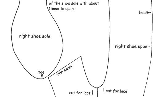 Medieval shoe pattern... need to make these before The