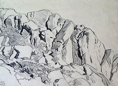 draw rocks and cliffs