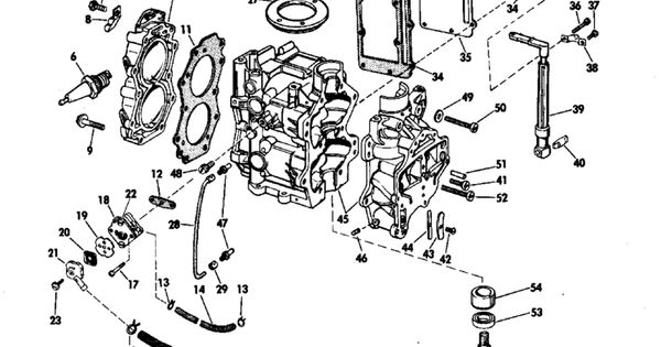 Johnson Powerhead Group Parts for 1969 6hp 6R69M Outboard