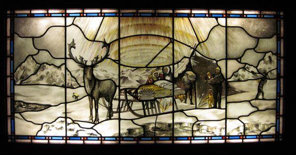 Glasinlood raam met het AaBelogo  AaBe Tilburg