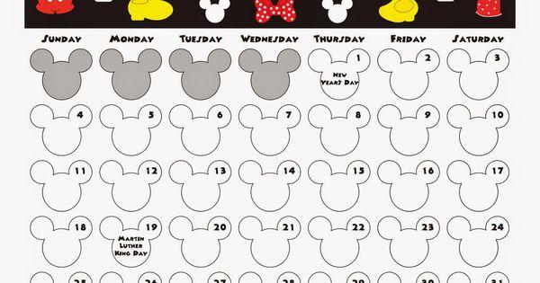 My Disney Life: January 2015 Calendar- Free printable