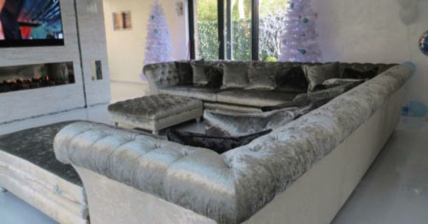Crushed Velvet Corner Sofa L Shape Sofa U Shape Sofa