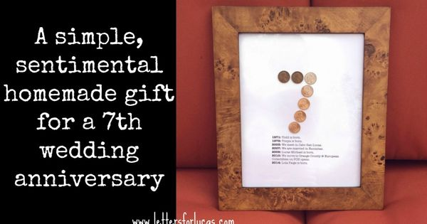 A Simple Gift Idea For Your 7th Wedding Anniversary Via