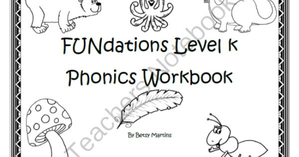 FUNdations Level K Phonics Workbook from TheSpecialtyShop