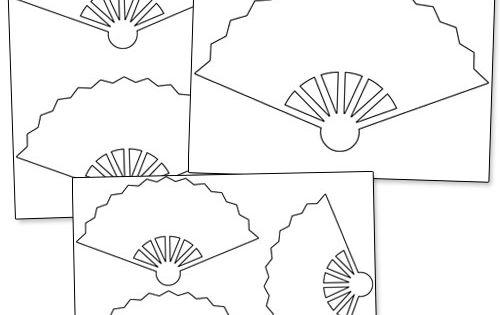 Printable Hand Fan Template from PrintableTreats.com