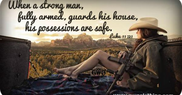 Ar 15 Girl Wallpaper When A Strong Man Fully Armed Guards His House His