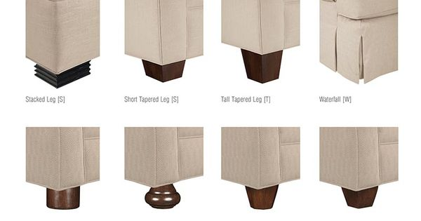 BASE AND LEG STYLES All Drexel Heritage Upholstery Base