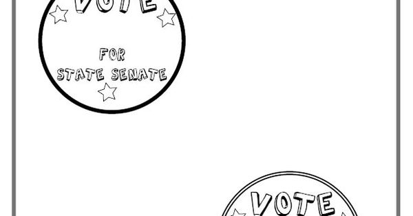 For elementary students: Make your own campaign buttons