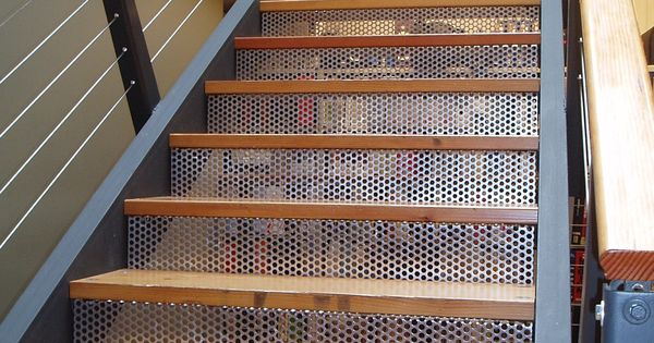 McNICHOLS Perforated Metal Forms Risers Of A Staircase