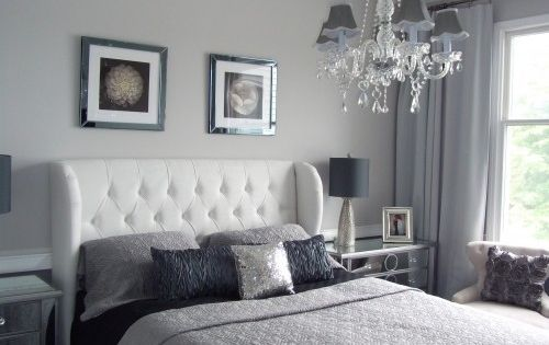 bedroom  paint color silver pointe sherwin Williams