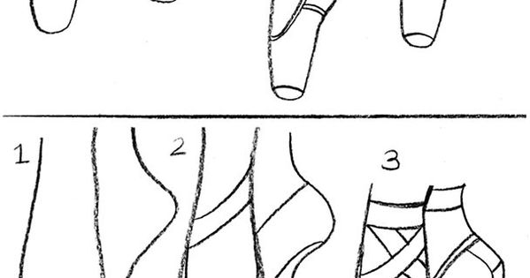 Coloring & Activity Pages: How to Draw Ballet Pointe Shoes