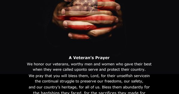 Veterans Day Prayer Service Thank You US Service