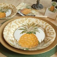 Pineapple Decorations For Kitchen Luxury Faucets Place Setting | Decor Pinterest ...