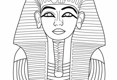 Tutankhamun colouring, Tutankhamun death mask colouring