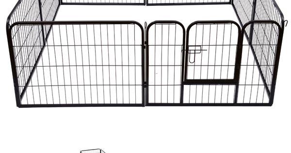 Pawhut Heavy Duty Dog Pet Puppy Metal Play Pen Rabbit Pig